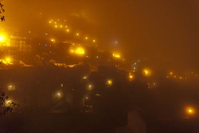 Troina nebbia notte
